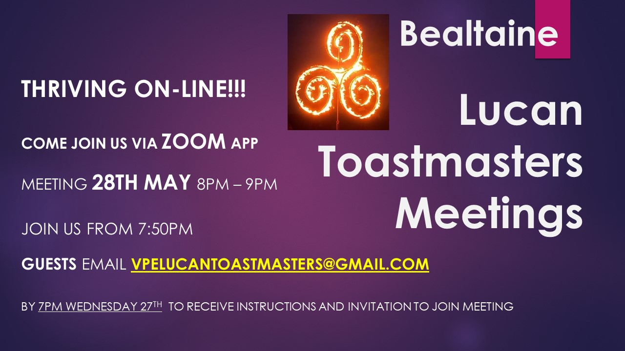 Online Meeting 28th May