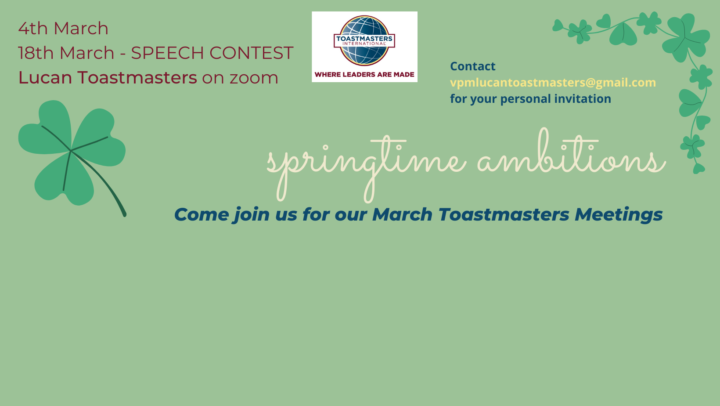 March Toastmaster meeting on the 4th of march