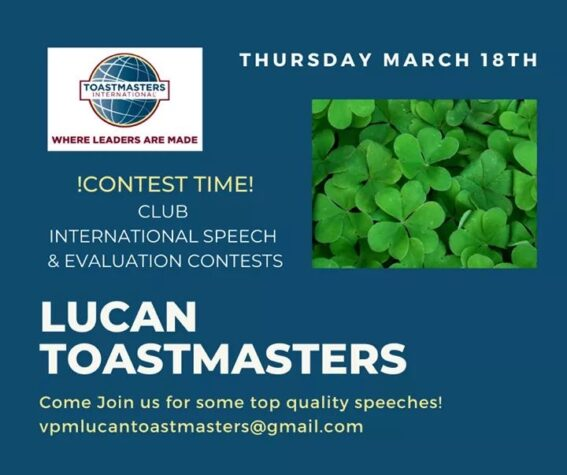toasmasters contest march 18th